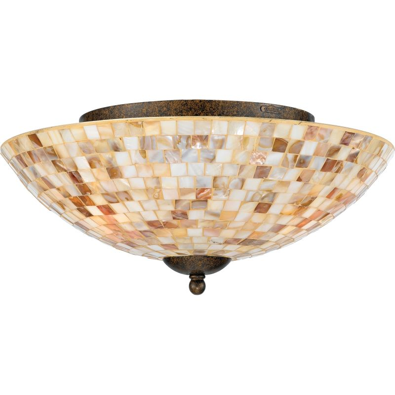"Quoizel MY1613 Monterey Mosaic 3 Light 16"" Wide Flush Mount Ceiling"