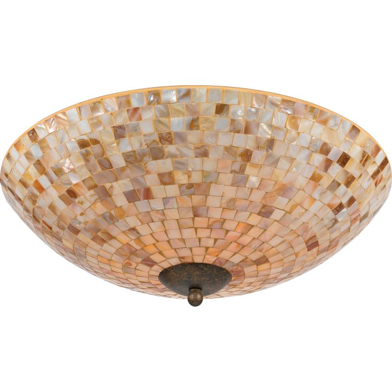"Quoizel MY1618 Monterey Mosaic 4 Light 18"" Wide Flush Mount Ceiling"
