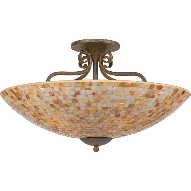 "Quoizel MY1723 Monterey Mosaic 5 Light 24"" Wide Semi-Flush Ceiling"