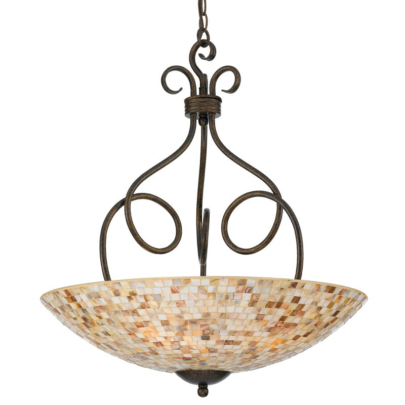Quoizel MY2824 Monterey Mosaic 4 Light Bowl Pendant with Pen Shell