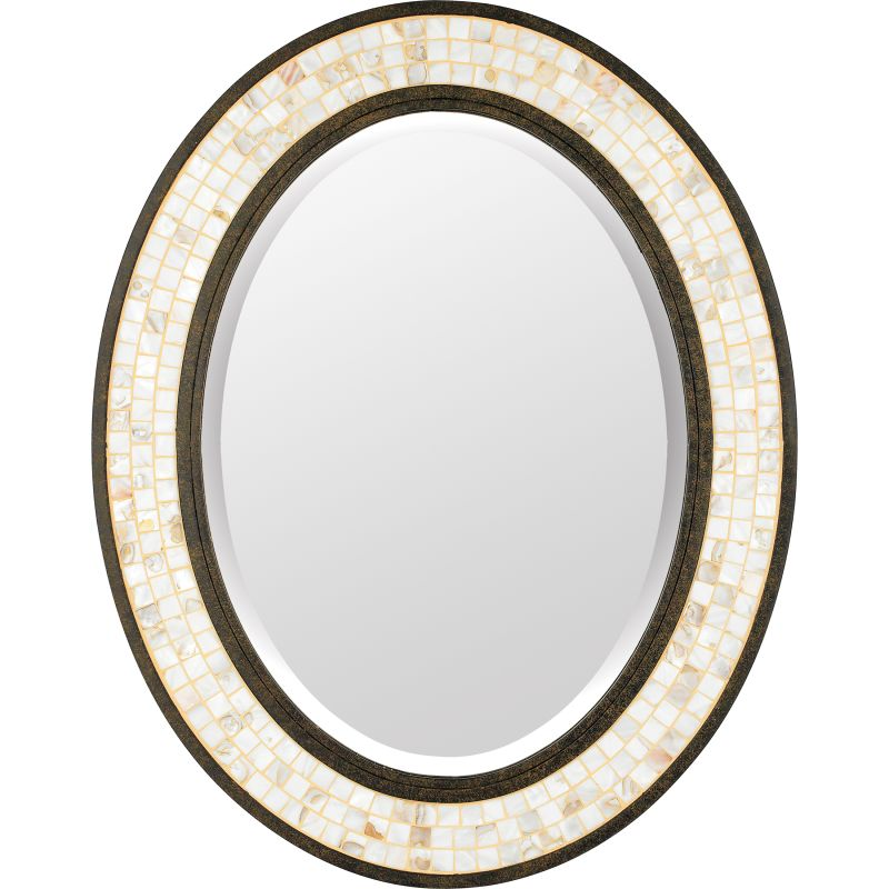 "Quoizel MY430242 Monterey Mosaic 30"" x 24"" Oval Decorative Mirror"