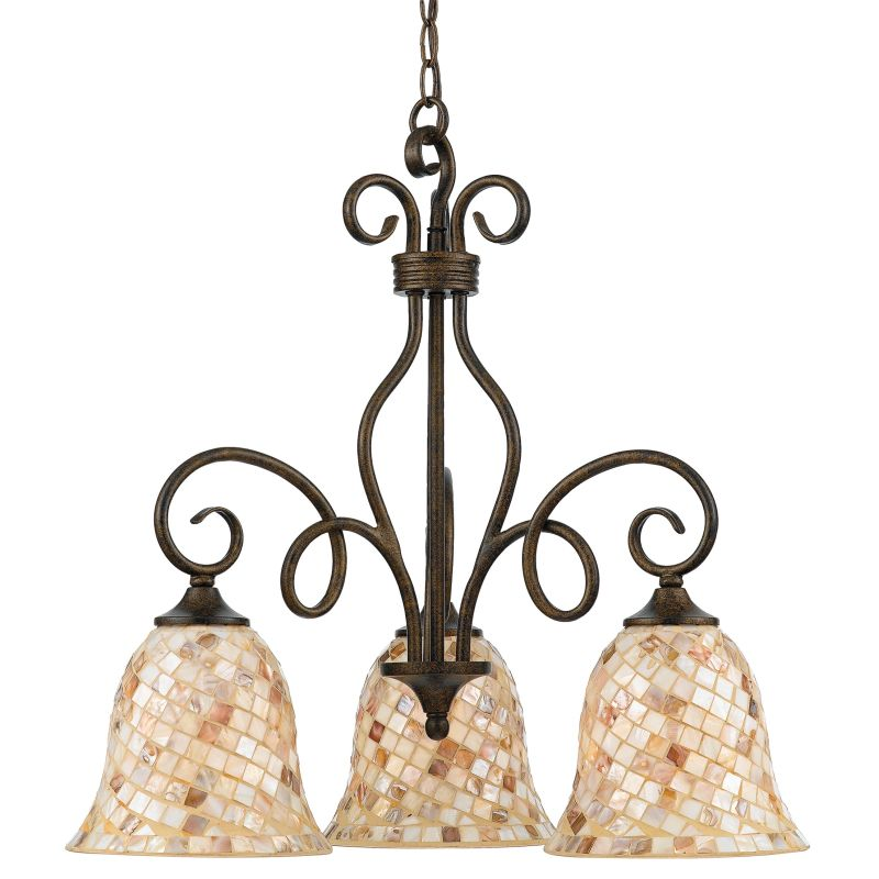 "Quoizel MY5103 Monterey Mosaic 3 Light 24"" Wide Chandelier with Pen"