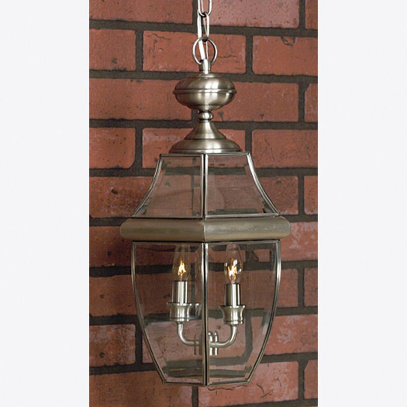 "Quoizel NY1178 Newbury 2 Light 10"" Wide Outdoor Pendant Lantern with"