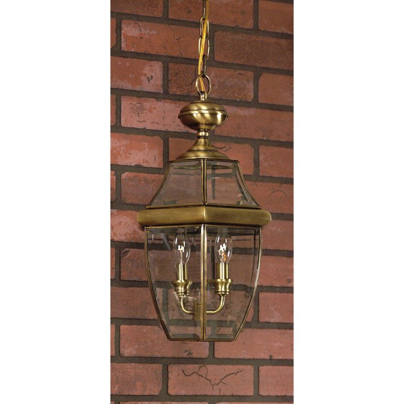 "Quoizel NY1179 Newbury 3 Light 13"" Wide Outdoor Pendant Lantern with"
