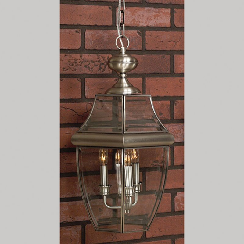 "Quoizel NY1180 Newbury 4 Light 16"" Wide Outdoor Pendant Lantern with"