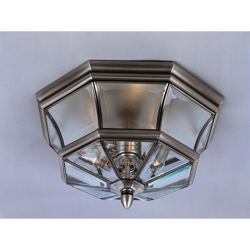 "Quoizel NY1794 Newbury 3 Light 15"" Wide Outdoor Ceiling Fixture with"