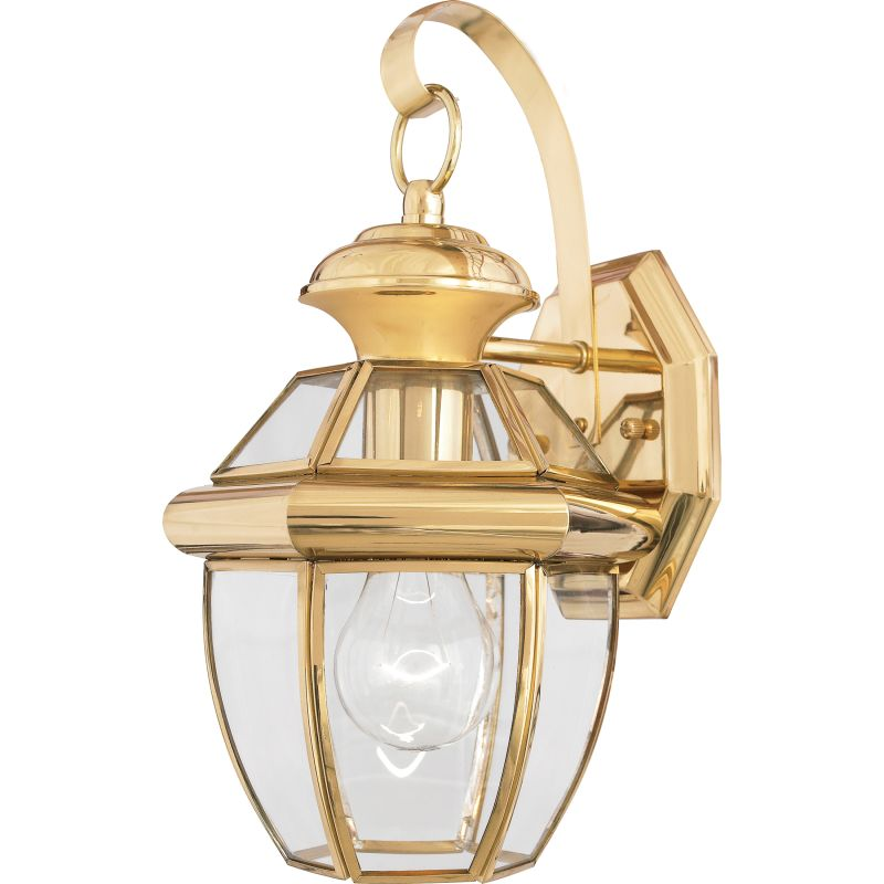 "Quoizel NY8315 Newbury 1 Light 13"" Tall Outdoor Wall Sconce with Clear"