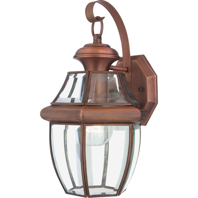 Tall Glass Wall Sconces : Quoizel NY8316AC Aged Copper Newbury 1 Light 14