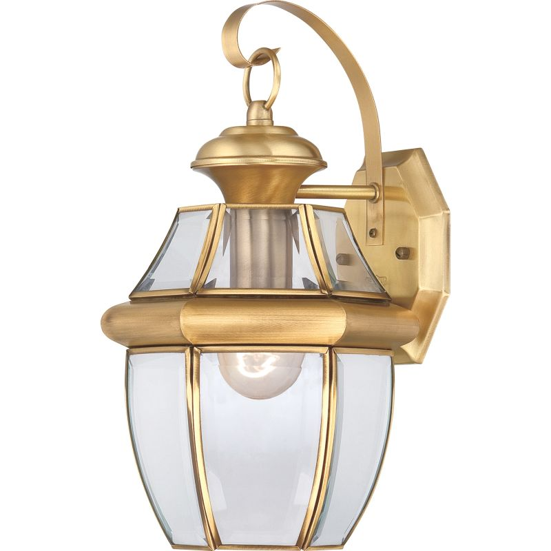 Quoizel NY8316 Newbury 1 Light 14&quote Tall Outdoor Wall Sconce with Clear