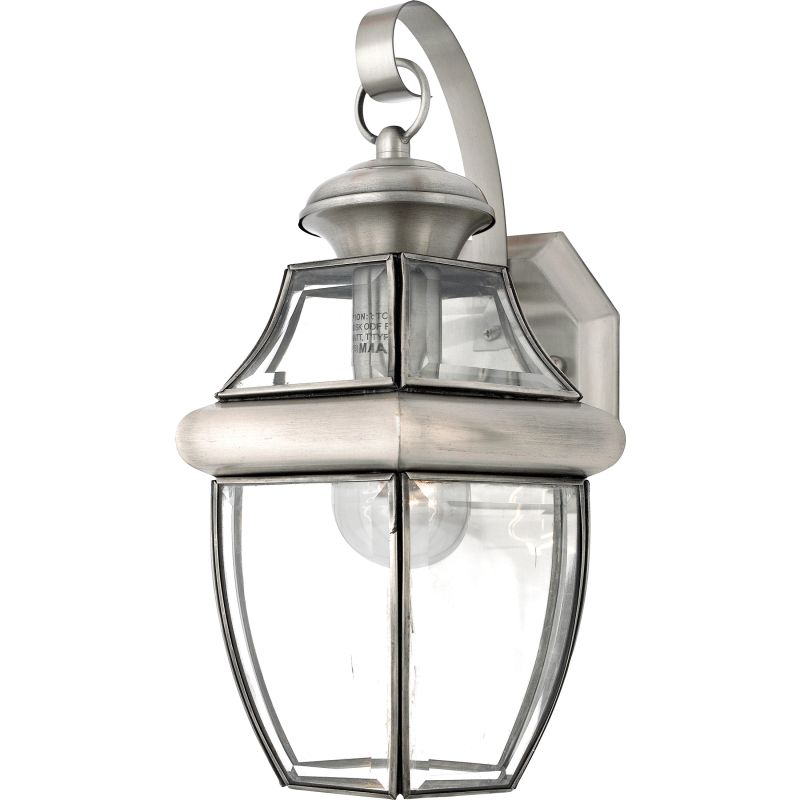"Quoizel NY8316 Newbury 1 Light 14"" Tall Outdoor Wall Sconce with Clear"