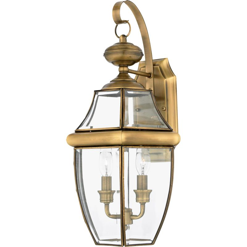 "Quoizel NY8317 Newbury 2 Light 20"" Tall Outdoor Wall Sconce with Clear"