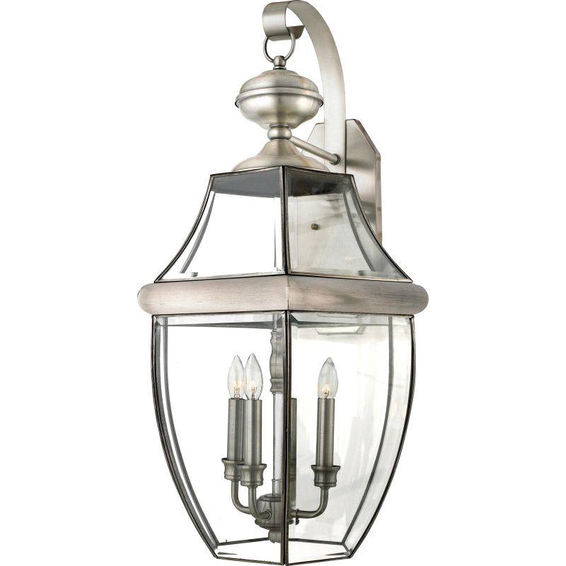 "Quoizel NY8318 Newbury 3 Light 23"" Tall Outdoor Wall Sconce with Clear"