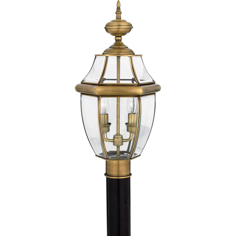 "Quoizel NY9042 Newbury 2 Light 21"" Tall Post Lantern with Clear Glass"