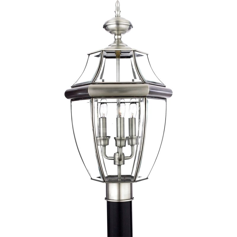 "Quoizel NY9043 Newbury 3 Light 23"" Tall Post Lantern with Clear Glass"