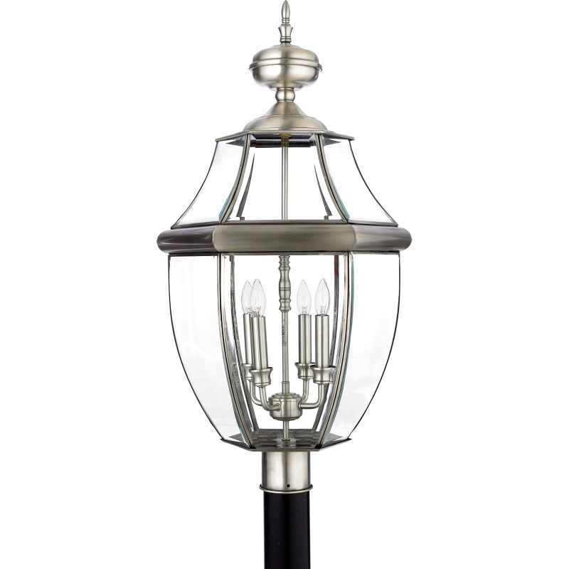 "Quoizel NY9045 Newbury 4 Light 30"" Tall Post Lantern with Clear Glass"