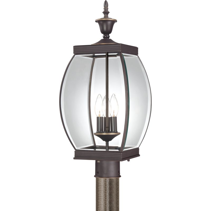 "Quoizel OAS9009 Oasis 3 Light 23"" Tall Post Lantern with Clear Glass"
