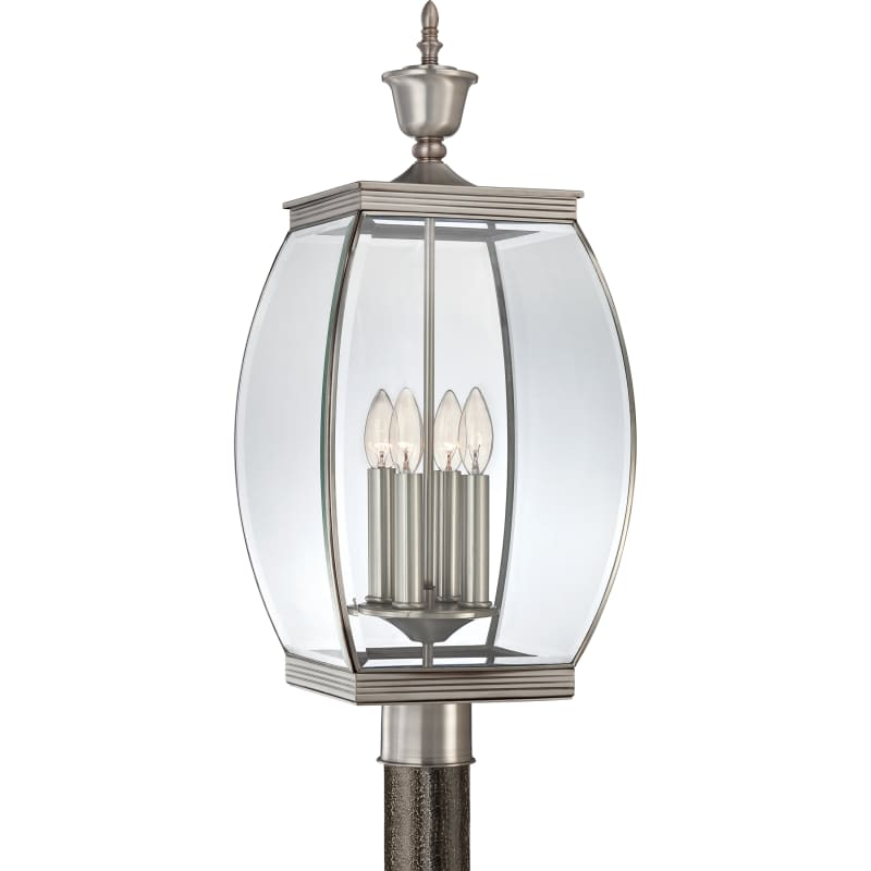 Quoizel OAS9011 Oasis 4 Light 27&quote Tall Post Lantern with Clear Glass