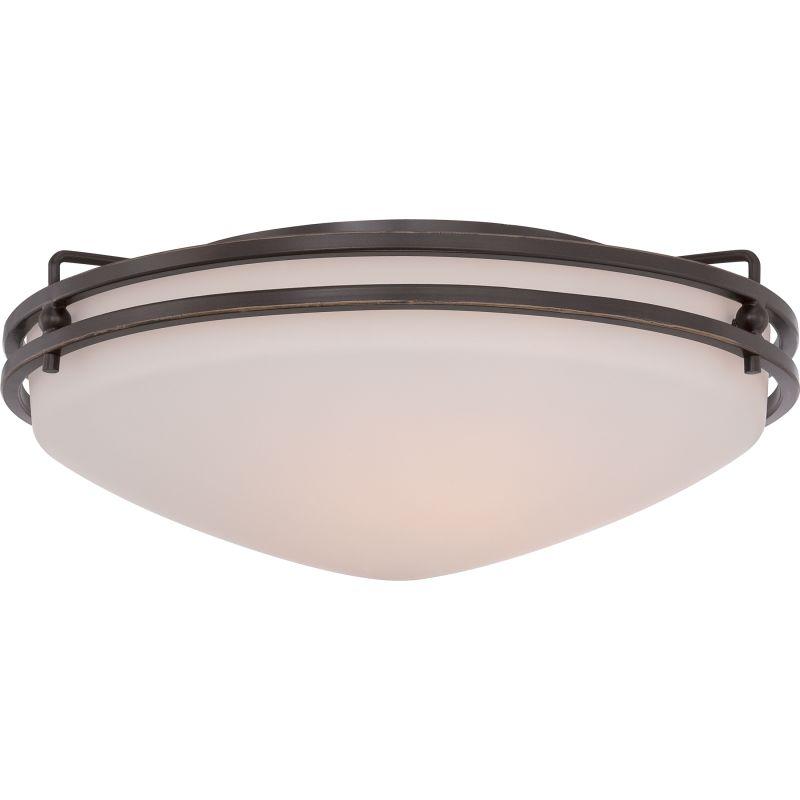 "Quoizel OZ1616 Ozark 3 Light 16"" Wide Flush Mount Ceiling Fixture with"