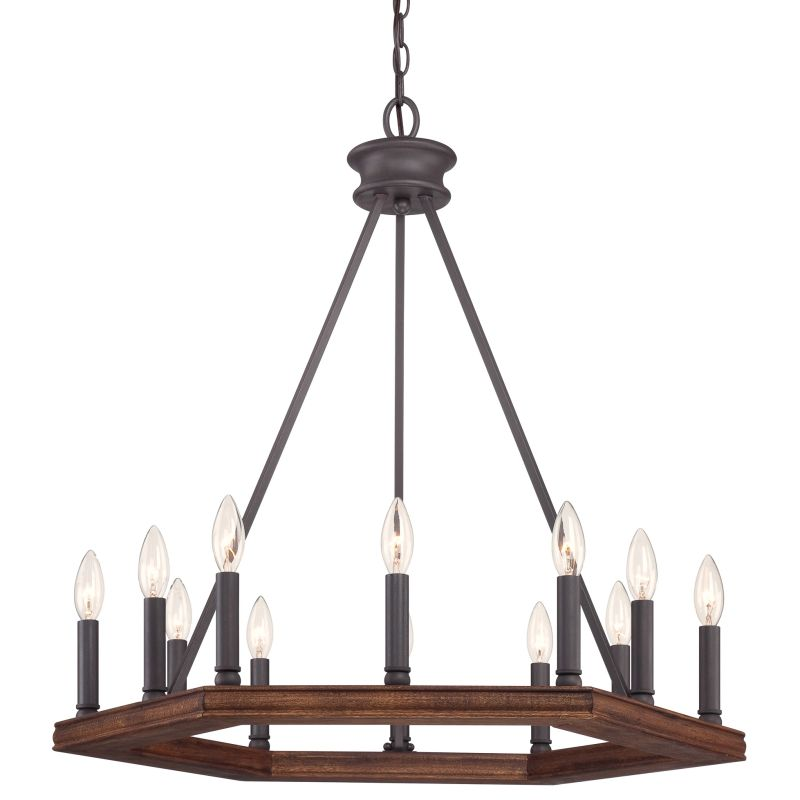 Quoizel Ptn5012dk Darkest Bronze Plantation 12 Light 28