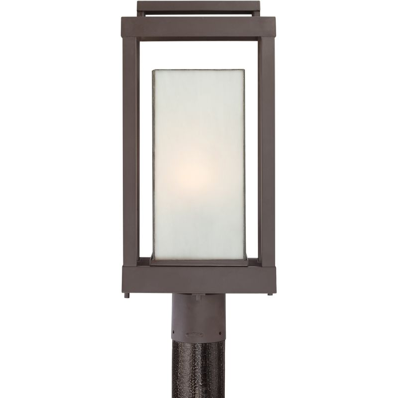"Quoizel PWL9009 Powell 1 Light 21"" Tall Post Light with White Glass"