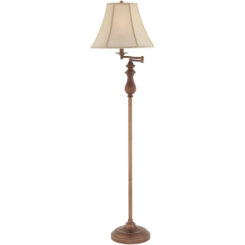 "Quoizel Q1056F Signature 1 Light 61"" Tall Swing Arm Floor Lamp with"