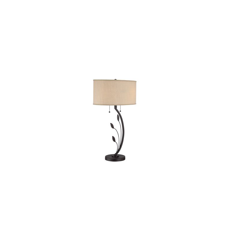 quoizel q1507t bronze signature 2 light 29 tall table lamp with tan. Black Bedroom Furniture Sets. Home Design Ideas