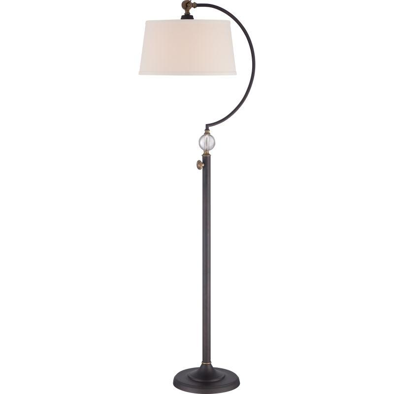 Quoizel Q1893F Signature 1 Light Arc Floor Lamp Oil Rubbed Bronze