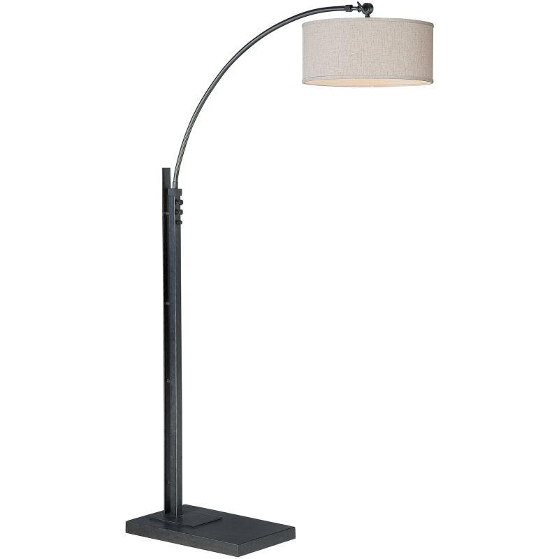 quoizel q4571a dark bronze signature 1 light 72 tall arc floor lamp. Black Bedroom Furniture Sets. Home Design Ideas
