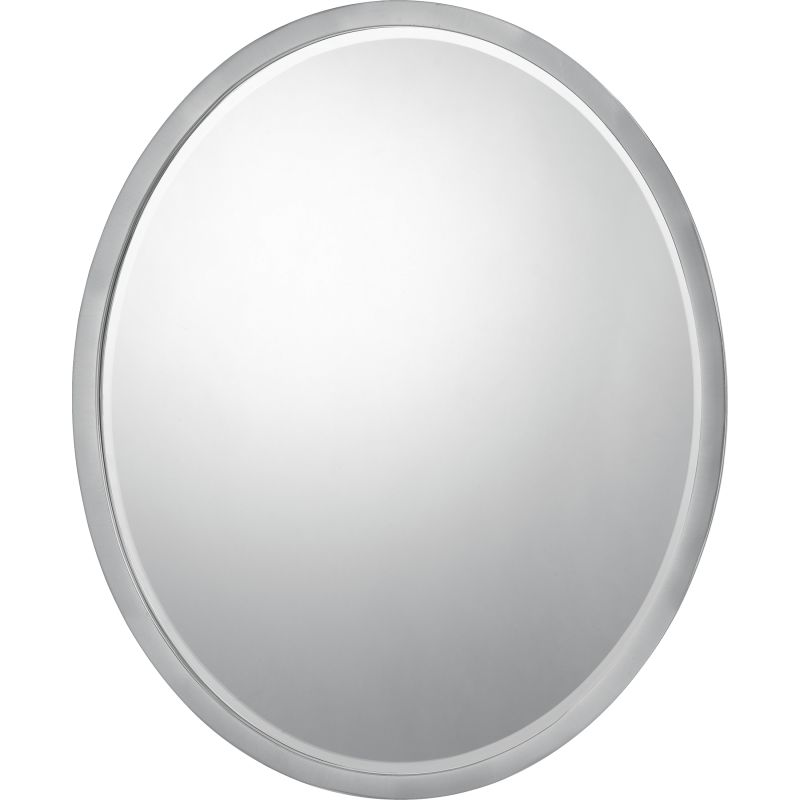 """Quoizel QR42420 Reflections 24"""" x 20"""" Oval Decorative Mirror Brushed"""
