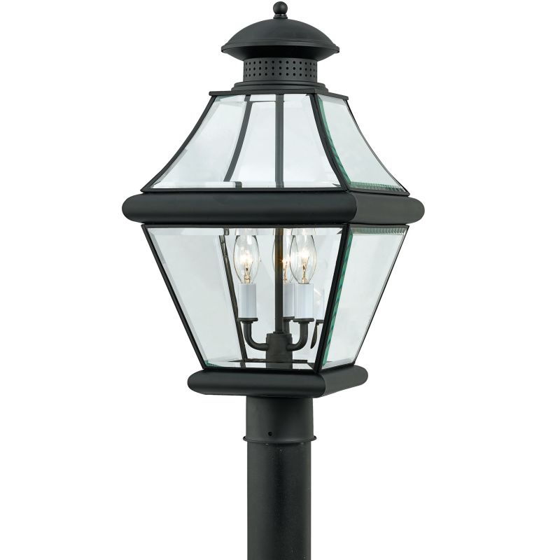 "Quoizel RJ9011 Rutledge 3 Light 21"" Tall Post Lantern with Clear Glass"