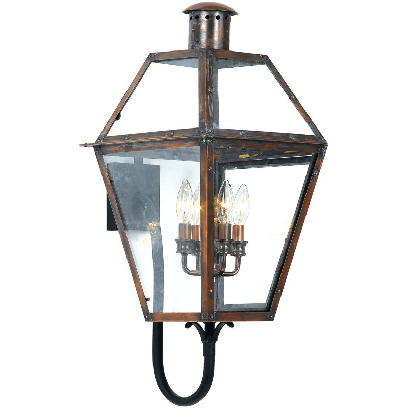 "Quoizel RO8414 Rue De Royal 4 Light 29"" Tall Outdoor Wall Sconce with"