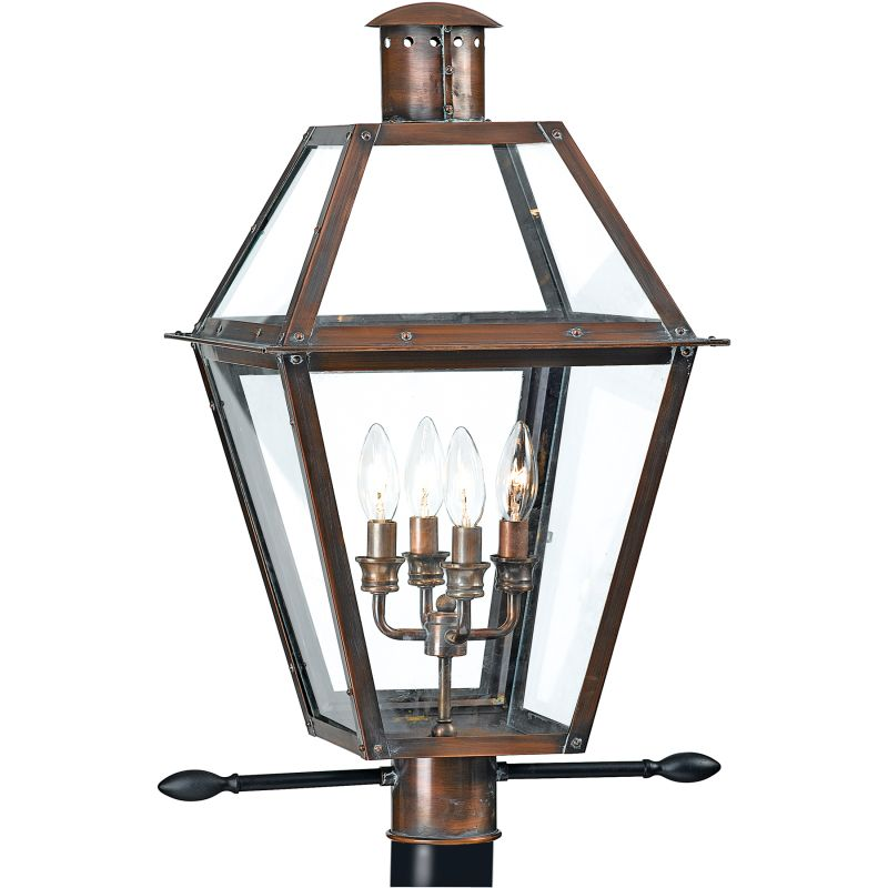 "Quoizel RO9014 Rue De Royal 4 Light 26"" Tall Post Lantern with Clear"