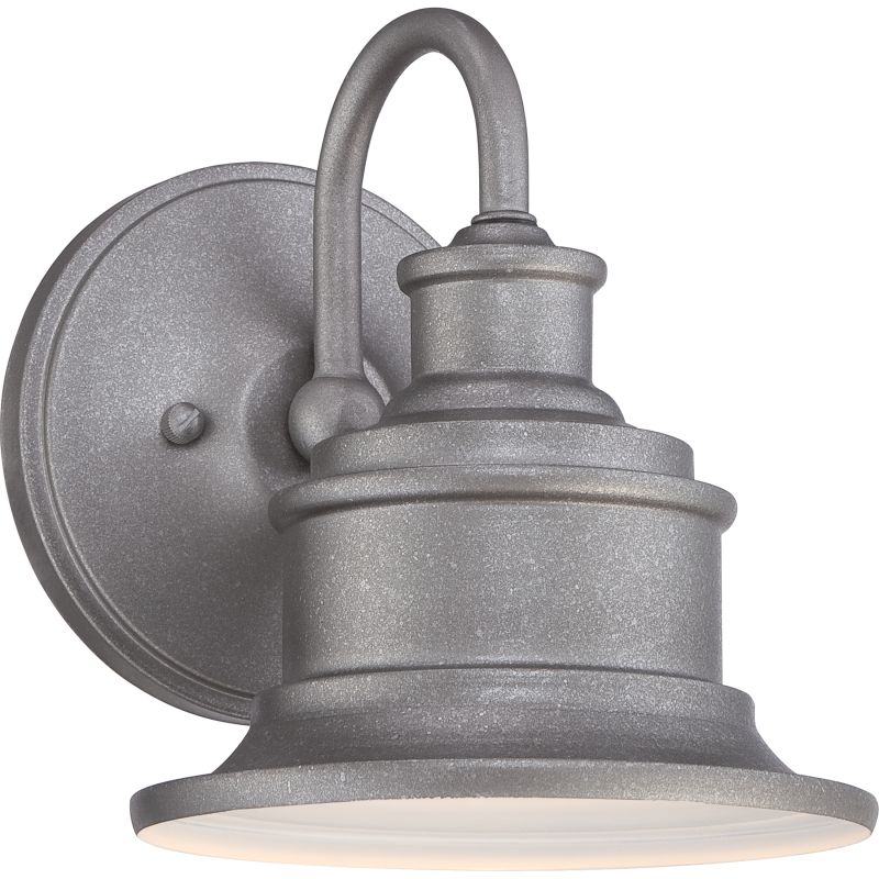Quoizel Sfd8407gv Galvanized Seaford 1 Light 8 Tall Industrial Outdoor Wall Sconce