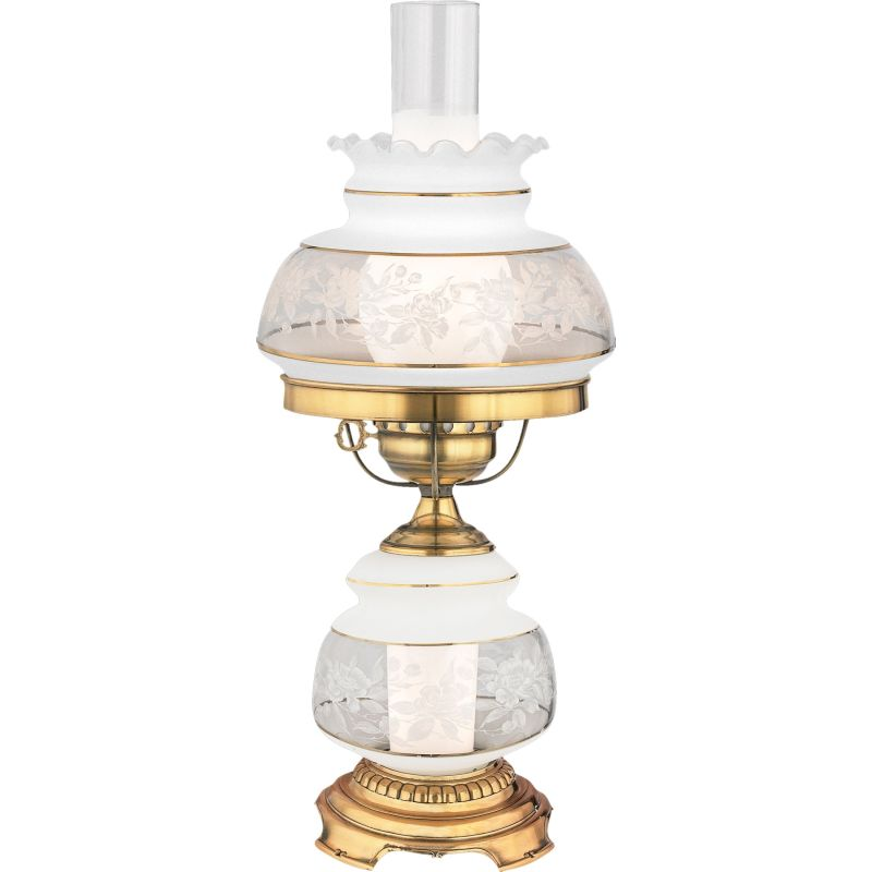 "Quoizel SL701 Satin Lace Single Light 20"" Tall Hurricane Lamp with"
