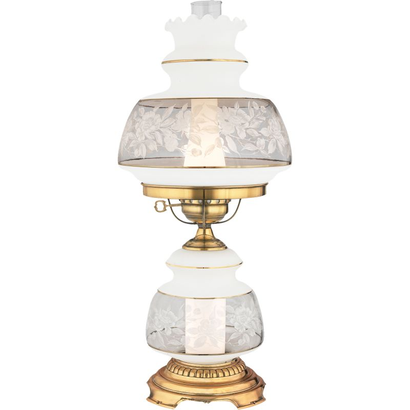 "Quoizel SL702 Satin Lace 1 Light 24"" Tall Hurricane Lamp with Night"