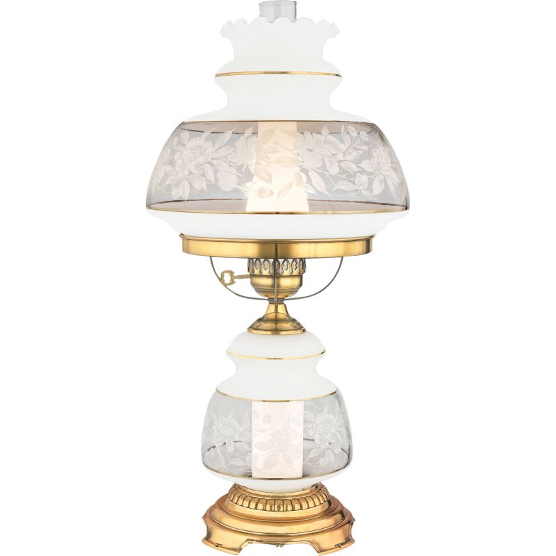 "Quoizel SL703 Satin Lace 1 Light 28"" Tall Hurricane Lamp with Night"