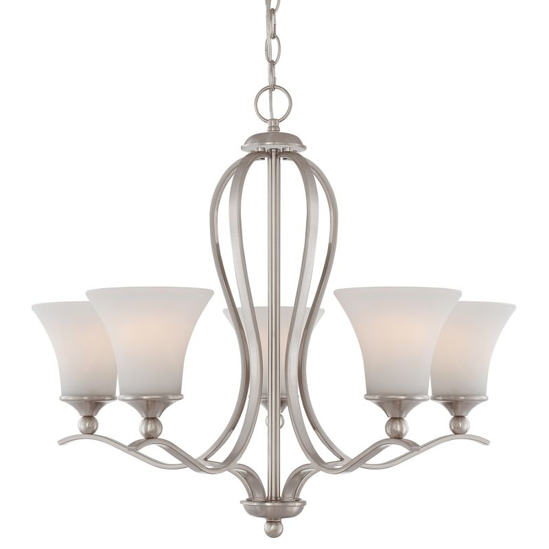 "Quoizel SPH5005 Sophia 5 Light 27"" Wide Chandelier with Etched Glass"