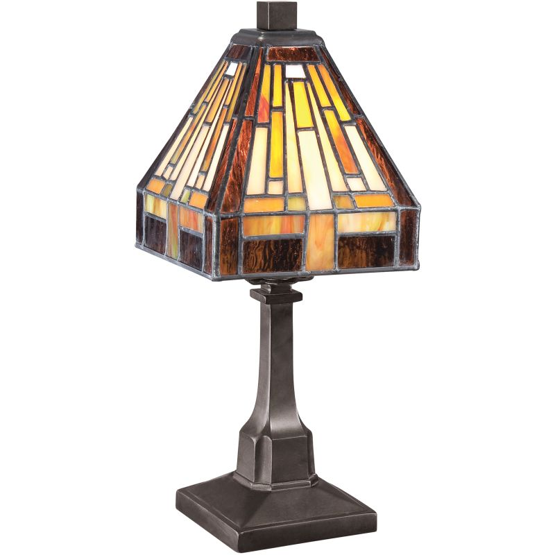 "Quoizel TF1018T Stephen 1 Light 12"" Tall Table Lamp with Tiffany Glass"