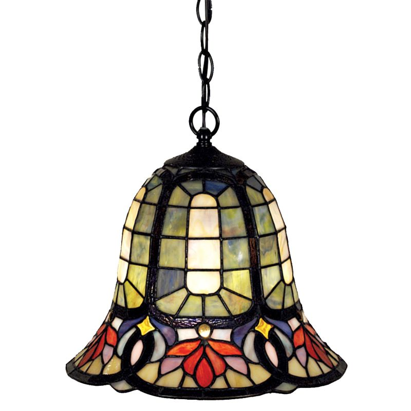 Quoizel TF1737 Tiffany 1 Light Full Sized Pendant with Tiffany Stained