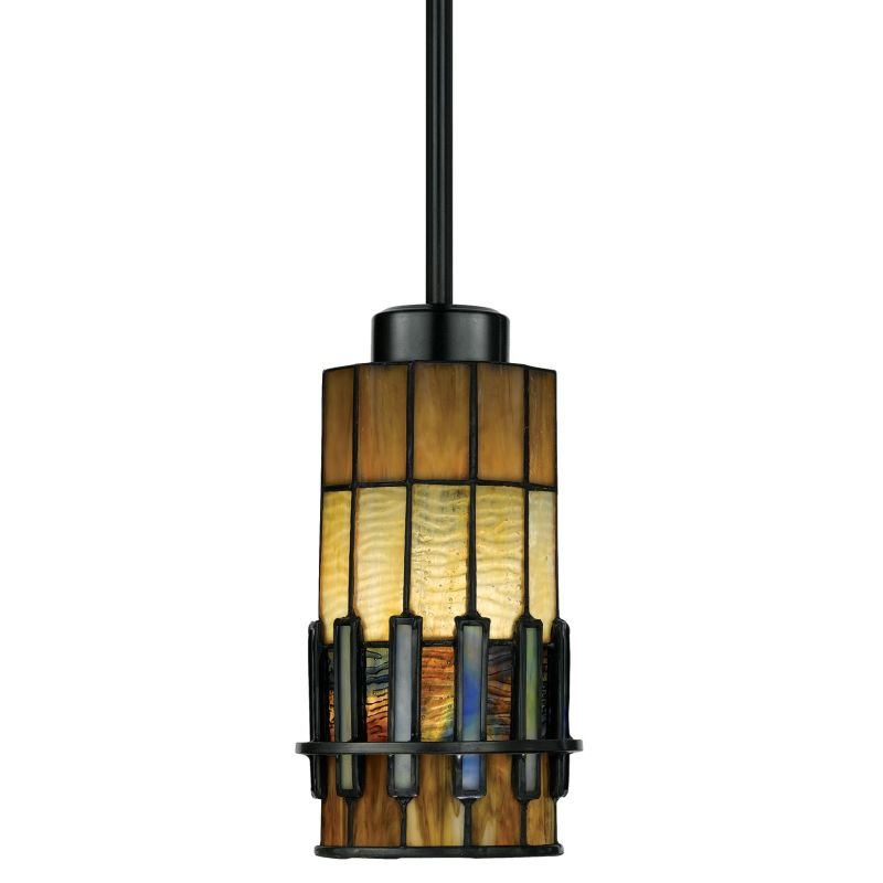 Quoizel TF489P01 Chastain 1 Light Mini Pendant with Tiffany Stained