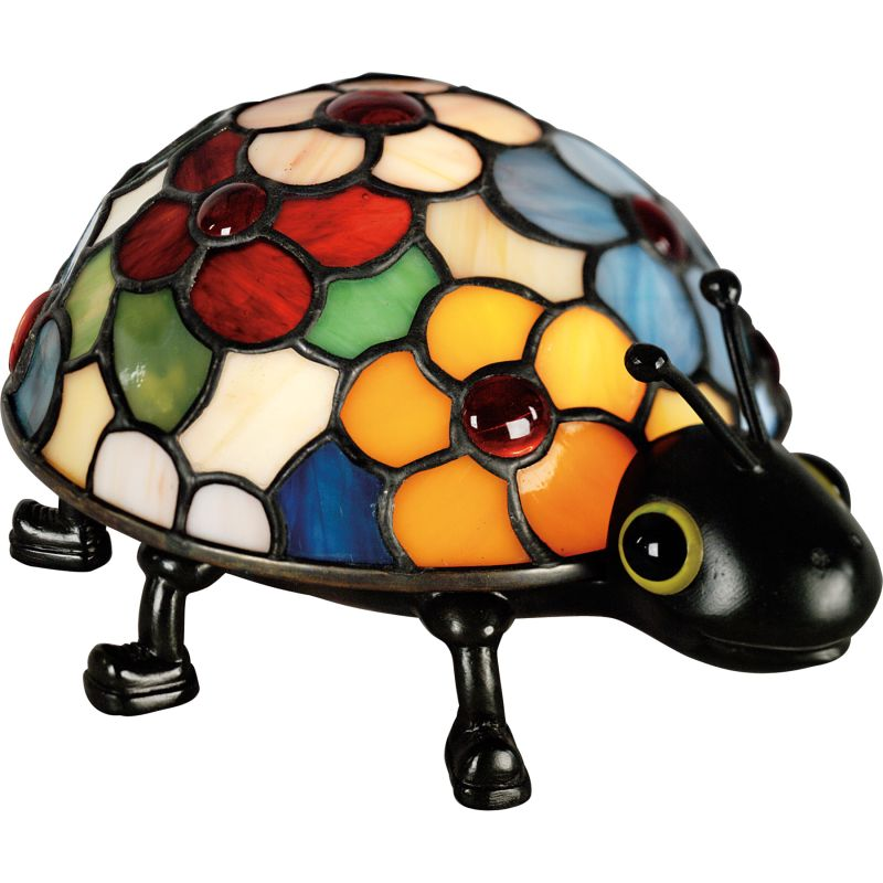 "Quoizel TF6031 Tiffany Single Light 5"" Tall Bug Accent Lamp Vintage"