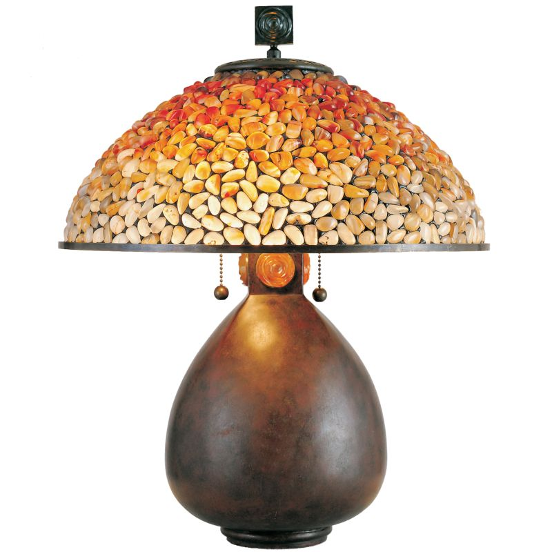 "Quoizel TF6825 Pomez 2 Light 21"" Tall Table Lamp with Agate Stone"