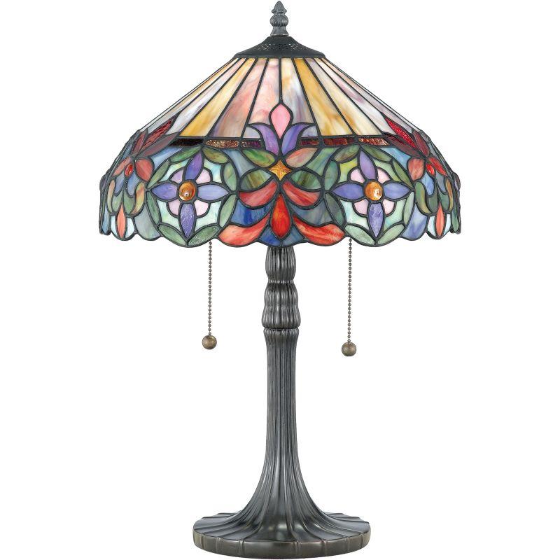 "Quoizel TF6826 Tiffany 2 Light 22"" Tall Table Lamp with Tiffany Glass"
