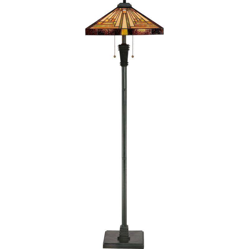 "Quoizel TF885F Stephen 2 Light 60"" Tall Floor Lamp with Tiffany Glass"