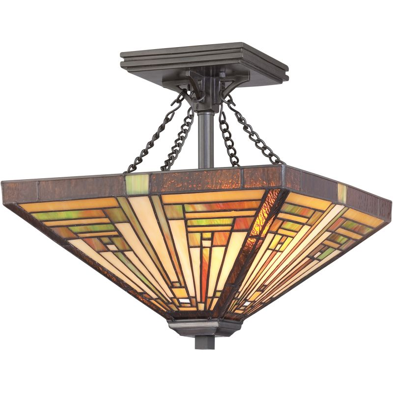 "Quoizel TF885 Stephen 2 Light 14"" Wide Semi-Flush Ceiling Fixture with"