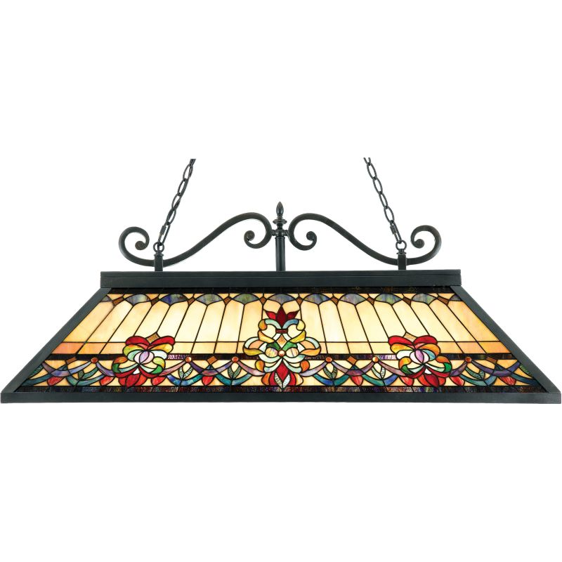"Quoizel TFBF348 Belle Fleur 3 Light 48"" Billiard Light with Tiffany"
