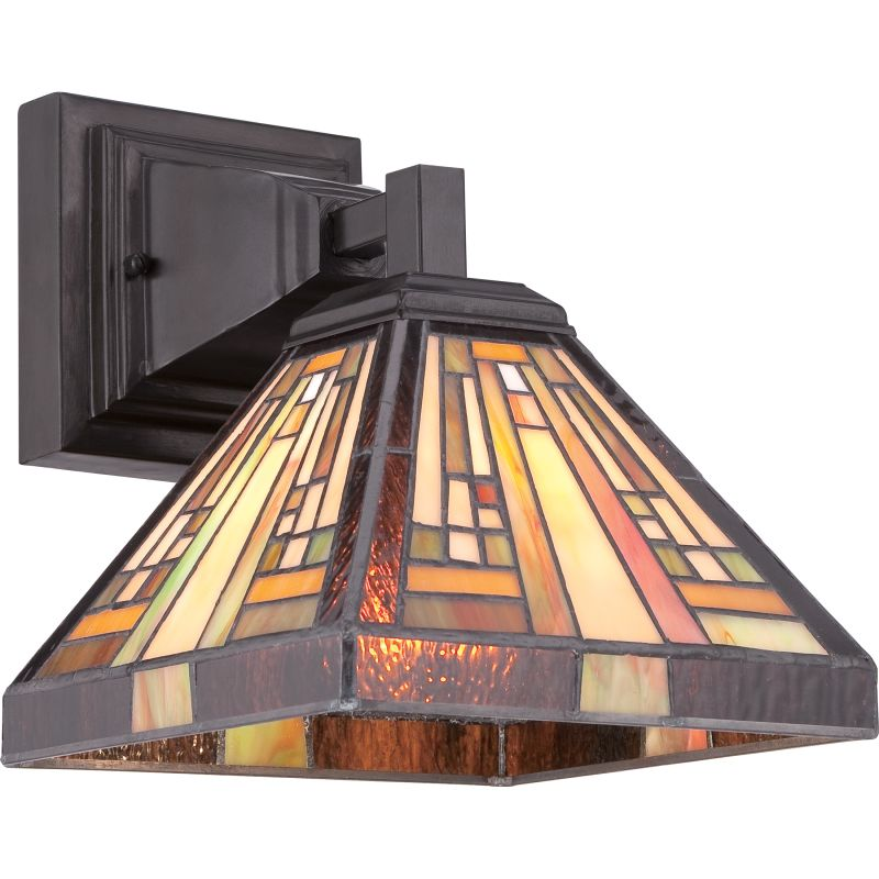 """Quoizel TFST8701 Stephen 1 Light 10"""" Tall Wall Sconce with Tiffany"""