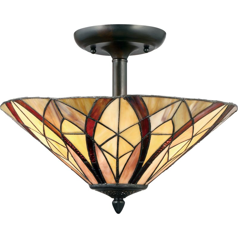 "Quoizel TFVY1716 Victory 2 Light 16"" Wide Semi Flush Ceiling Fixture Sale $189.99 ITEM: bci2846442 ID#:TFVY1716VA UPC: 611728254356 :"