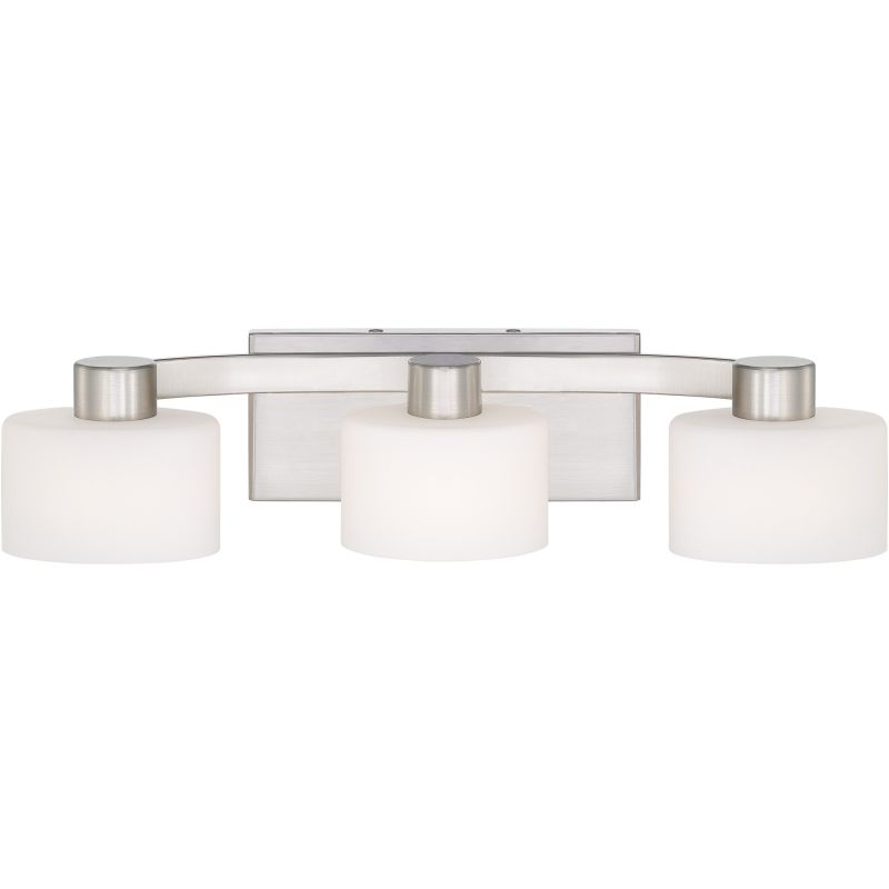 Bathroom Vanity Halogen Lights : Quoizel TU8603BN Brushed Nickel Tatum 3 Light 21