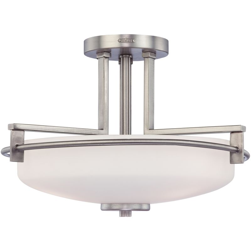 "Quoizel TY1716 Taylor 3 Light 17"" Wide Semi-Flush Ceiling Fixture with"